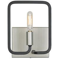 Varaluz 317B01SOCB Rectangulo 1 Light 6 inch Silverado and Carbon Bath Vanity Wall Light