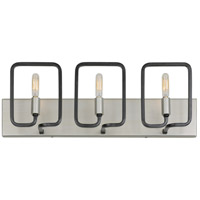 Rectangulo 3 Light 22 inch Silverado and Carbon Bath Vanity Wall Light
