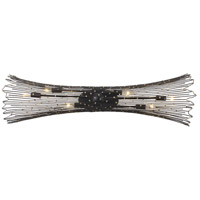 Varaluz 320B06CBAG Rikki 6 Light 36 inch Carbon and Aged Gold Wall Sconce Wall Light photo thumbnail