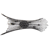 Varaluz 320B06CBAG Rikki 6 Light 36 inch Carbon and Aged Gold Wall Sconce Wall Light alternative photo thumbnail