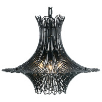 Varaluz 320C03CBAG Rikki 3 Light 18 inch Carbon and Aged Gold Chandelier Ceiling Light photo thumbnail