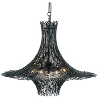 Varaluz 320C06CBAG Rikki 6 Light 26 inch Carbon and Aged Gold Chandelier Ceiling Light photo thumbnail