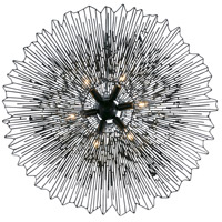 Varaluz 320C06CBAG Rikki 6 Light 26 inch Carbon and Aged Gold Chandelier Ceiling Light alternative photo thumbnail