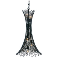 Varaluz 320F05CBAG Rikki 5 Light 16 inch Carbon and Aged Gold Pendant Ceiling Light