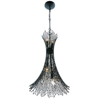 Varaluz 320F05CBAG Rikki 5 Light 16 inch Carbon and Aged Gold Pendant Ceiling Light alternative photo thumbnail