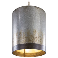 Varaluz 323P03OG Cannery 3 Light 16 inch Ombre Galvanized Pendant Ceiling Light