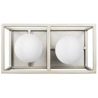 Varaluz 325B02SOCB Plaza LED 10 inch Silverado and Carbon Bath Vanity Light Wall Light