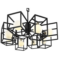 Varaluz 325C08CBHG Plaza LED 25 inch Carbon and Havana Gold Pendant Ceiling Light