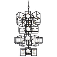 Varaluz 325F24CBHG Plaza LED 26 inch Carbon and Havana Gold Pendant Ceiling Light