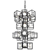 Varaluz 325F24CBHG Plaza LED 25 inch Carbon and Havana Gold Foyer Pendant Ceiling Light