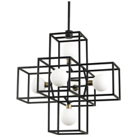 Varaluz 325P06CBHG Plaza LED 18 inch Carbon and Havana Gold Pendant Ceiling Light