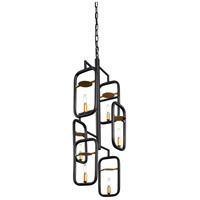 Varaluz 327F06AGRB Bar None 6 Light 16 inch Aged Gold and Rustic Bronze Pendant Ceiling Light