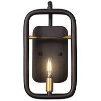 Varaluz 327W01AGRB Bar None 1 Light 7 inch Aged Gold and Rustic Bronze Wall Sconce Wall Light