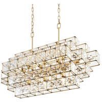 Varaluz 329N14CG Cubic 14 Light 41 inch Calypso Gold Linear Pendant Ceiling Light