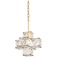Varaluz 329P01CG Cubic 1 Light 12 inch Calypso Gold Pendant Ceiling Light