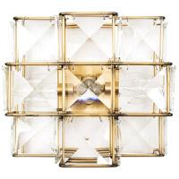 Varaluz 329W03CG Cubic 3 Light 12 inch Calypso Gold Sconce Wall Light
