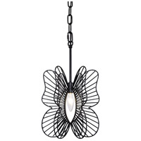 Varaluz 330M01BL Monarch 1 Light 9 inch Black Mini Pendant Ceiling Light
