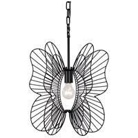 Varaluz 330P01BL Monarch 1 Light 15 inch Black Mini Pendant Ceiling Light