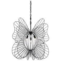 Varaluz 330P03BL Monarch 3 Light 26 inch Black Pendant Ceiling Light