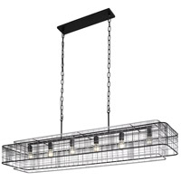 Varaluz 333N06BLGR Vivienne 6 Light 60 inch Linear Pendant Ceiling Light