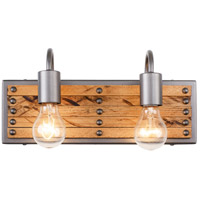 Ella Jane 2 Light 14 inch New Bronze and Honey Wood Bath Vanity Light Wall Light