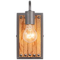 Varaluz 334W01NB Ella Jane 1 Light 5 inch New Bronze and Honey Wood ADA Wall Sconce Wall Light