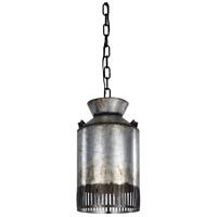Varaluz 335M01OG Hickory Lane 1 Light 8 inch Ombre Galvanized and Black Mini Pendant Ceiling Light