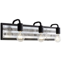 Abbey Rose 3 Light 26 inch Black and Galvanized Bath Vanity Light Wall Light