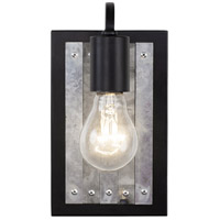 Varaluz 336W01BL Abbey Rose 1 Light 5 inch Black and Galvanized Wall Sconce Wall Light