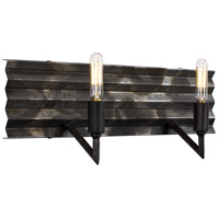 Flynne 2 Light 16 inch Ombre Galvanized Bath Vanity Light Wall Light