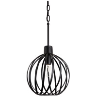 Varaluz 338P01BL Bronwyn 1 Light 10 inch Black Mini Pendant Ceiling Light