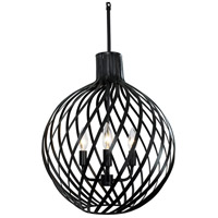 Varaluz 338P03BL Bronwyn 3 Light 16 inch Black Pendant Ceiling Light