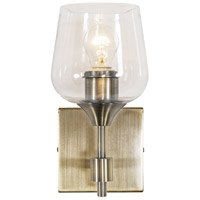 Margaux 1 Light 5 inch Antique Brass and Clear Bath Vanity Light Wall Light