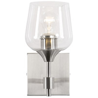 Margaux 1 Light 5 inch Satin Nickel and Clear Bath Vanity Light Wall Light