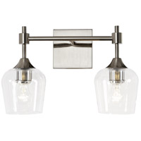 Margaux 2 Light 16 inch Satin Nickel and Clear Bath Vanity Light Wall Light