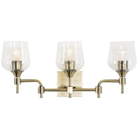 Margaux 3 Light 24 inch Antique Brass and Clear Bath Vanity Light Wall Light