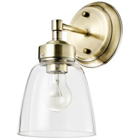 Varaluz 341B01AB Helena 1 Light 6 inch Antique Brass and Clear Bath Vanity Light Wall Light