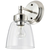 Helena 1 Light 6 inch Satin Nickel and Clear Bath Vanity Light Wall Light