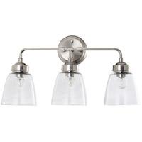 Varaluz 341B03SN Helena 3 Light 22 inch Satin Nickel and Clear Bath Vanity Light Wall Light
