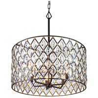 Varaluz 345P06CBHG Windsor 6 Light 25 inch Carbon/Havana Gold Pendant Ceiling Light