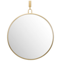 Round Stopwatch 30 X 24 inch Gold Wall Mirror Home Decor, Varaluz Casa