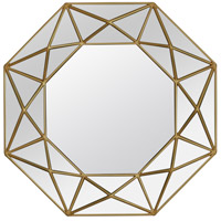 Geo 32 X 32 inch Painted Gold Wall Mirror Home Decor, Varaluz Casa