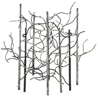 Small Birch Black and White and Gray Wall Art, Varaluz Casa
