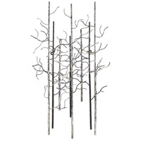 Large Birch Black and White and Gray Wall Art, Varaluz Casa