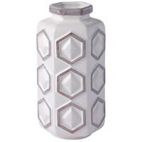 Hex 9 X 5 inch Vase in White with Gray, Varaluz Casa