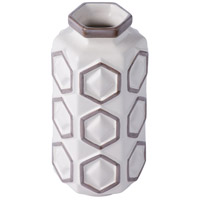Hex 12 X 6 inch Vase in White with Gray, Varaluz Casa