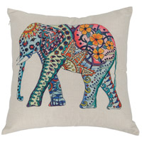 Varaluz 419A02 Elephant Multicolored Throw Pillow, Varaluz Casa