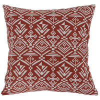 Tribal Red Throw Pillow, Varaluz Casa