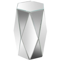 Hexagonal Mirrored Accent Table Home Decor, Varaluz Casa