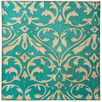 Casa Distressed Teal and Ivory Canvas Wall Art, Varaluz Casa
